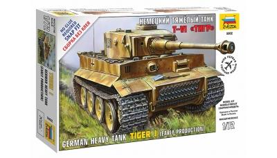Tiger I, Pz. Kpfw. VI, Sd.Kfz. 181, Ausf. E, Henschel - ЗВЕЗДА 5002 1/72