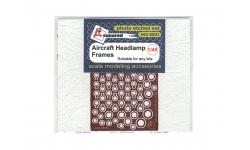 Ободки посадочных фар с креплением, в ассортименте - A-SQUARED ASQ48003 1/48
