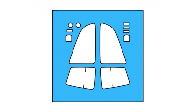 Маски для Су-34 Сухой (TRUMPETER) - A-SQUARED ASQM72001 1/72