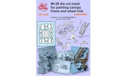 Маски для Ми-28А/Н/НЭ Миль (ЗВЕЗДА) - AK-HOBBY MS720006 1/72