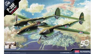 P-38F Lockheed, Lightning - ACADEMY 12208 1/48