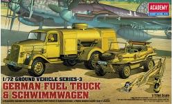 Opel Blitz S 3t 3,6-36, Fl.K.Kw. Kfz. 385 & VW Typ 166 Schwimmwagen - ACADEMY 13401 1/72