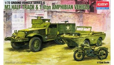 M3A1 Halftrack WMC / Ford GPA / Harley-Davidson WLA-45 - ACADEMY 13408 1/72