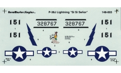 P-38J Lockheed, Lightning - AEROMASTER 148-003 1/48