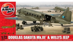 Dakota Mk. III Douglas / Willys MB, Jeep - AIRFIX A09008 1/72