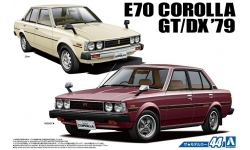 Toyota Corolla Sedan 1300DX KE70 / 1600GT TE71 1979 - AOSHIMA 053454 MODEL CAR No. 44 1/24 PREORD