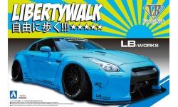 Nissan GT-R R35 2014 - AOSHIMA 054024 LIBERTY WALK No. 9 1/24 PREORD