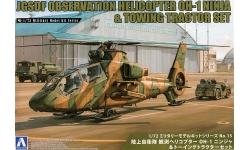 OH-1 Kawasaki, Ninja & Toyota 2TD20 Tow Tractor - AOSHIMA 014356 No. 15 1/72