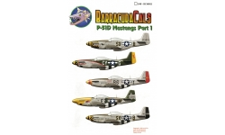 P-51D North American Aviation, Mustang - BARRACUDACALS BC48011 1/48