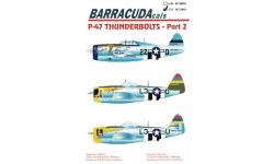 P-47D Republic, Thunderbolt - BARRACUDACALS BC72002 1/72