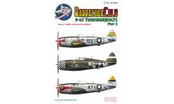 P-47D Republic, Thunderbolt - BARRACUDACALS BC72003 1/72