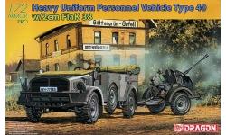 Mannsch.Kw. Kfz.70, Horch 108 Typ 1a & 2 cm FlaK 38 - DRAGON 7422 1/72