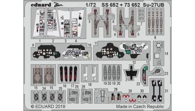 Фототравление для Су-27УБ Сухой (ЗВЕЗДА) - EDUARD 73652 1/72
