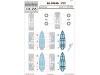 Маски для Ki-100-Ib (Otsu) Kawasaki (AOSHIMA) - EDUARD CX455 1/72