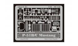 Фототравление для P-51B/C North American, Mustang (ICM) - EDUARD FE140 1/48