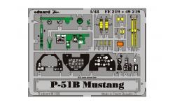 Фототравление для P-51B North American, Mustang (TAMIYA) - EDUARD FE219 1/48