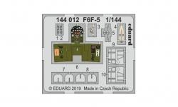 Фототравление для F6F-5 Grumman, Hellcat (PLATZ/EDUARD) - EDUARD 144012 1/144