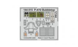Фототравление для P-47D Republic, Thunderbolt, Razorback (PLATZ, EDUARD) - EDUARD 144016 1/144