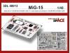 МиГ-15/бис. 3D декали (BRONCO) - EDUARD 3DL48013 1/48