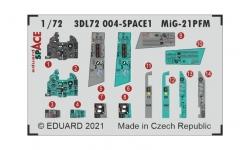 МиГ-21ПФМ. 3D декали (EDUARD) - EDUARD 3DL72004 1/72