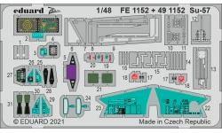 Фототравление для Су-57 Сухой (ЗВЕЗДА) - EDUARD 491152 1/48