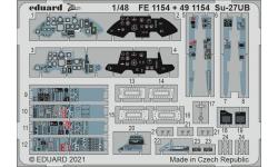 Фототравление для Су-27УБ Сухой (GREAT WALL HOBBY) - EDUARD 491154 1/48
