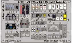 Фототравление для F-22A Lockheed Martin, Raptor (FUJIMI) - EDUARD 73379 1/72