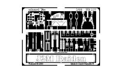 Фототравление для J2M Mitsubishi, Raiden (HASEGAWA) - EDUARD FE117 1/48