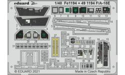 Фототравление для F/A-18E Boeing, McDonnell Douglas, Super Hornet (MENG) - EDUARD FE1194 1/48