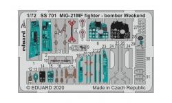 Фототравление для МиГ-21МФ (EDUARD) - EDUARD SS701 1/72