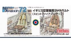 Ремни пристяжные самолетов Великобритании 1939-1945 гг - FINE MOLDS NA6 Nano Aviation 1/72