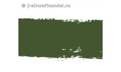 Краска MR.HOBBY H420 водоразбавляемая, оливково-зеленая полуматовая, Люфтваффе RLM80, 10 мл