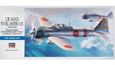 A6M2b Type 21 Mitsubishi - HASEGAWA 00451 D21 1/72
