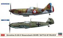 Dewoitine D.520 SNCAM & Bf 109E-3/4 Messerschmitt - HASEGAWA 02332 1/72