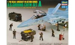 Экипаж, наземная команда и аэродромная техника ВВС США - HASEGAWA 36004 X48-4 1/48