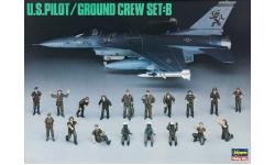 Экипаж и наземная команда. ВВС США - HASEGAWA 36005 X48-5 1/48
