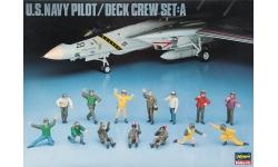 Экипаж и палубная команда ВВС ВМФ США - HASEGAWA 36006 X48-6 1/48