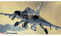 J 35F/F2 SAAB, Saab 35, Draken - HASEGAWA 51401 BP1 1/72