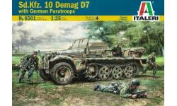 Leichter Zugkraftwagen 1t Sd. Kfz. 10, Ausf. B, D 7, Demag - ITALERI 6561 1/35