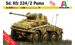 Schwerer Panzerspähwagen Sd.Kfz. 234/2, Büssing-NAG, Puma - ITALERI 6601 1/48