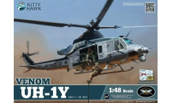 UH-1Y Bell, Iroquois, Venom, Yankee Huey, Super Huey - KITTY HAWK KH80124 1/48
