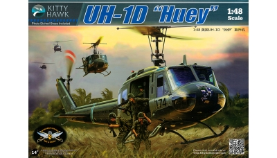 UH-1D/H Bell, Iroquois, Delta Huey, Hotel Huey - KITTY HAWK KH80154 1/48
