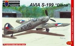 S-199 Avia - KOVOZAVODY PROSTEJOV (KP) KPM0008 1/72