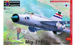 МиГ-21бис - KOVOZAVODY PROSTEJOV (KP) KPM0100 1/72