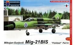 МиГ-21бис - KOVOZAVODY PROSTEJOV (KP) KPM0102 1/72