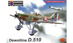Dewoitine D.510 - KOVOZAVODY PROSTEJOV (KP) KPM0179 1/72