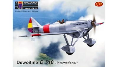 Dewoitine D.510 - KOVOZAVODY PROSTEJOV (KP) KPM0180 1/72