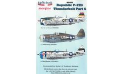 P-47D Republic, Thunderbolt - LIFELIKE DECALS 48-024 1/48
