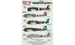 Ki-43-Ic (Hei) / IIa (Kou) / IIb (Otsu) Nakajima, Hayabusa - LIFELIKE DECALS 48-041 1/48