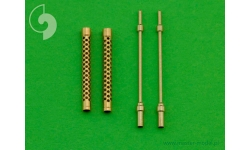 Стволы металлические для пулеметов Breda-SAFAT 12.7-мм - MASTER AM-48-054 1/48
